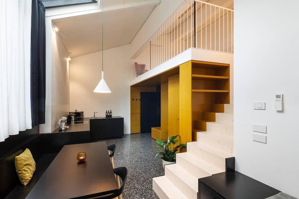 Luxury-Apartment, 1 Schlafzimmer - Wohnbereich