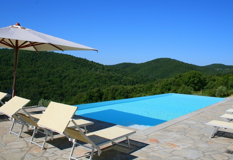 Beautiful Accommodation in Elegant Farmhouse With Pool and Breathtaking Views, Anghiari, Exteriér