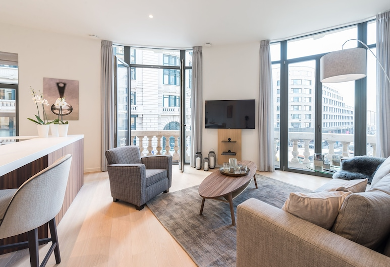 Iris Residence, Bruxelles, Design-lejlighed, Opholdsområde