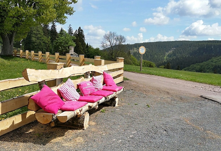 Holiday Home in the Thuringian Forest With Terrace, Garden and a Beautiful View, Gehlberg, Tuin