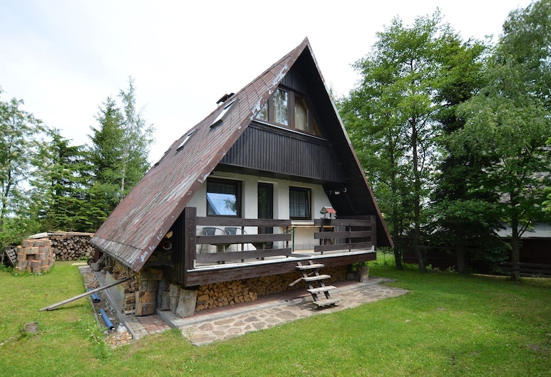 Nice Holiday Home With Fireplace in the Ore Mountains Only 500m From the Chairlift, 克里諾夫塞姆河畔洛烏奇納, 外觀
