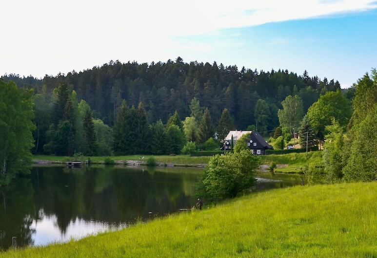 Beautiful Holiday Home With Well-kept, Fenced-in Rice on the Shore of a Small Reservoir, Krasna Lipa