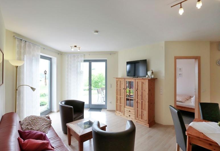Light Filled Apartment in Düdinghausen Sauerland With Garden, מדבאך, דירה, סלון