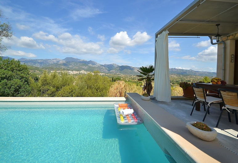 Modern Furnished House With Private Pool and View Over the Mountains, Inca, Pool