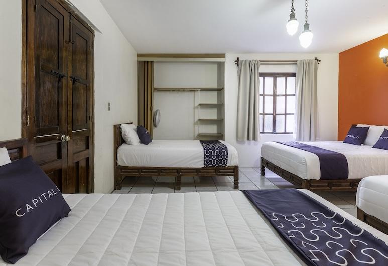 Hotel Villa De León, Oaxaca, Fjölskylduherbergi (2 Double Beds), Herbergi