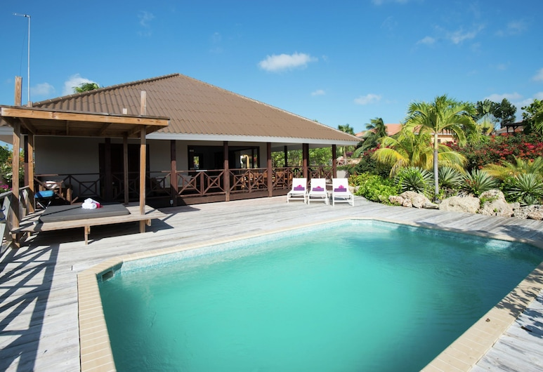 Tropical Villa With Swimming Pool in Jan Thiel, 珍錫爾, 外觀