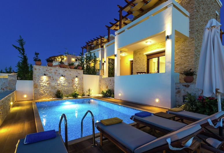 New Villa With Private Pool, Privacy, Near sea and Arkadi Monastery on NW Coast, Rethymno, Išorė