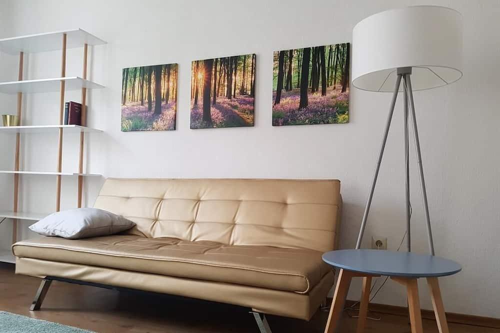 Apartemen, pemandangan kebun - Ruang Keluarga