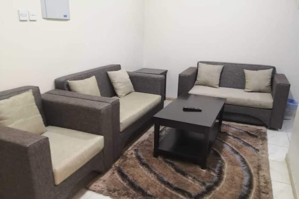 Paaugstināta komforta dzīvokļnumurs, viena guļamistaba - Dzīvojamā zona