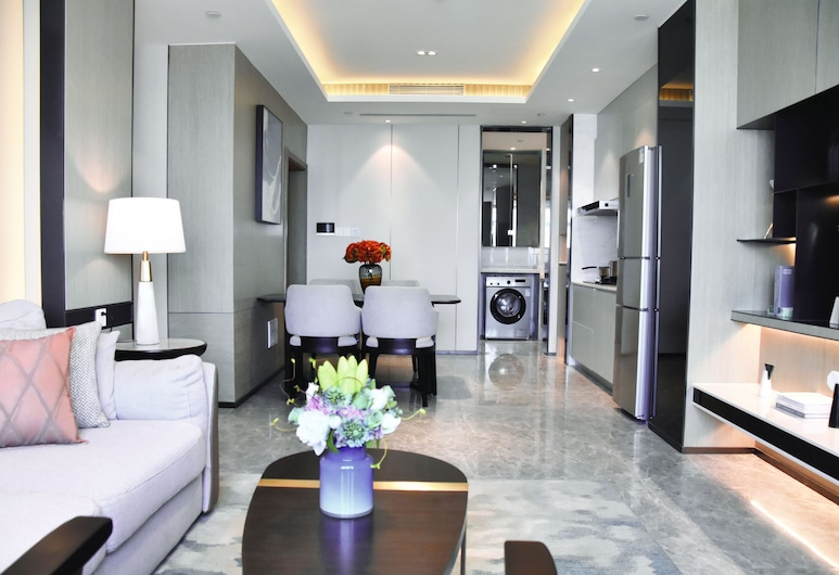 Himalaya Serviced Residences Nankai Tianjin, Tianjin, Superior Double Room, Living Area
