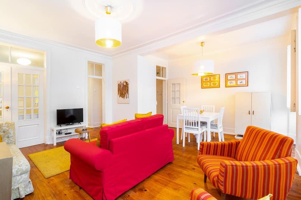Apartmán, 2 ložnice, nekuřácký - Obývací prostor
