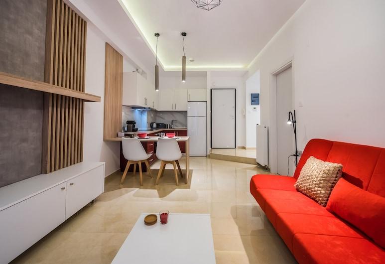 #halu! - Funky City Centre Home, 塞瑟隆尼基, 豪华公寓, 1 间卧室, 起居区