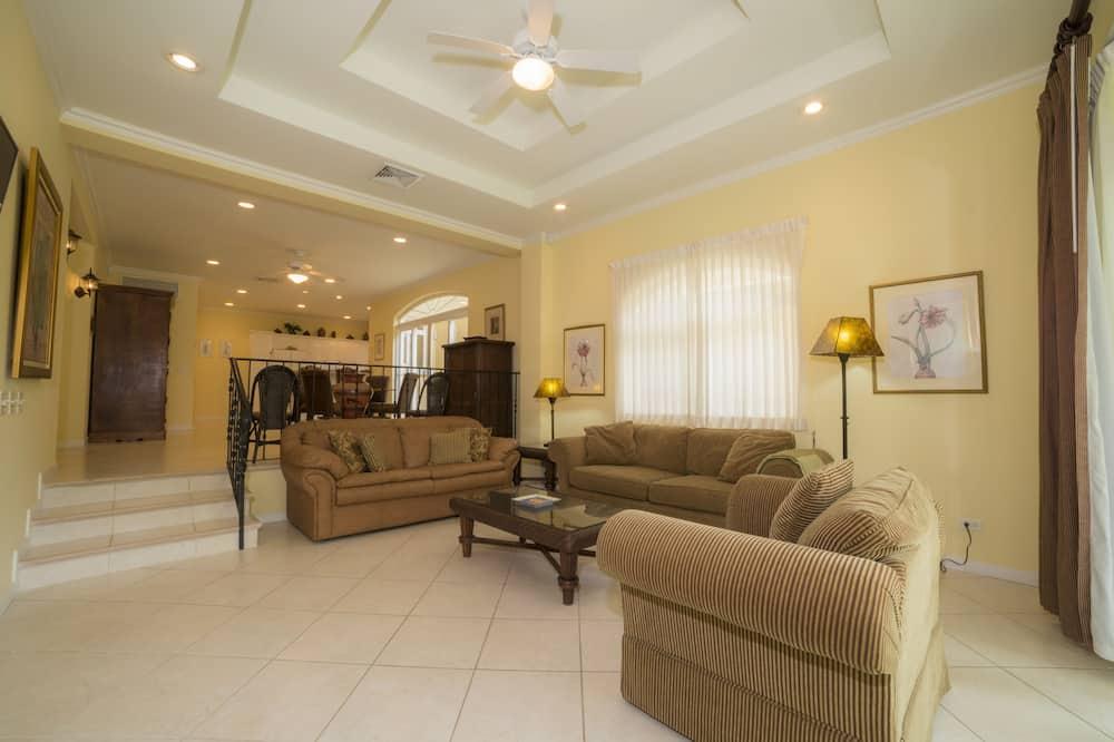 Apartamento Deluxe, 2 baños, vistas al jardín - Sala de estar