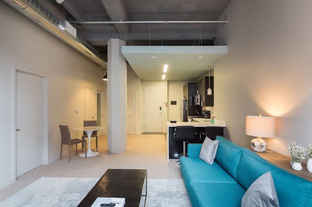 Departamento Prestigio, 1 habitación, para no fumadores - Sala de estar