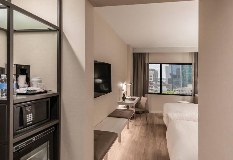 AC Hotel Fort Worth Downtown, פורט וורת', חדר, 2 מיטות קווין, ללא עישון, חדר אורחים