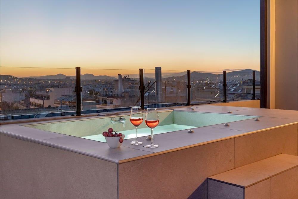 פנטהאוז (with terrace) - אמבט ספא פרטי
