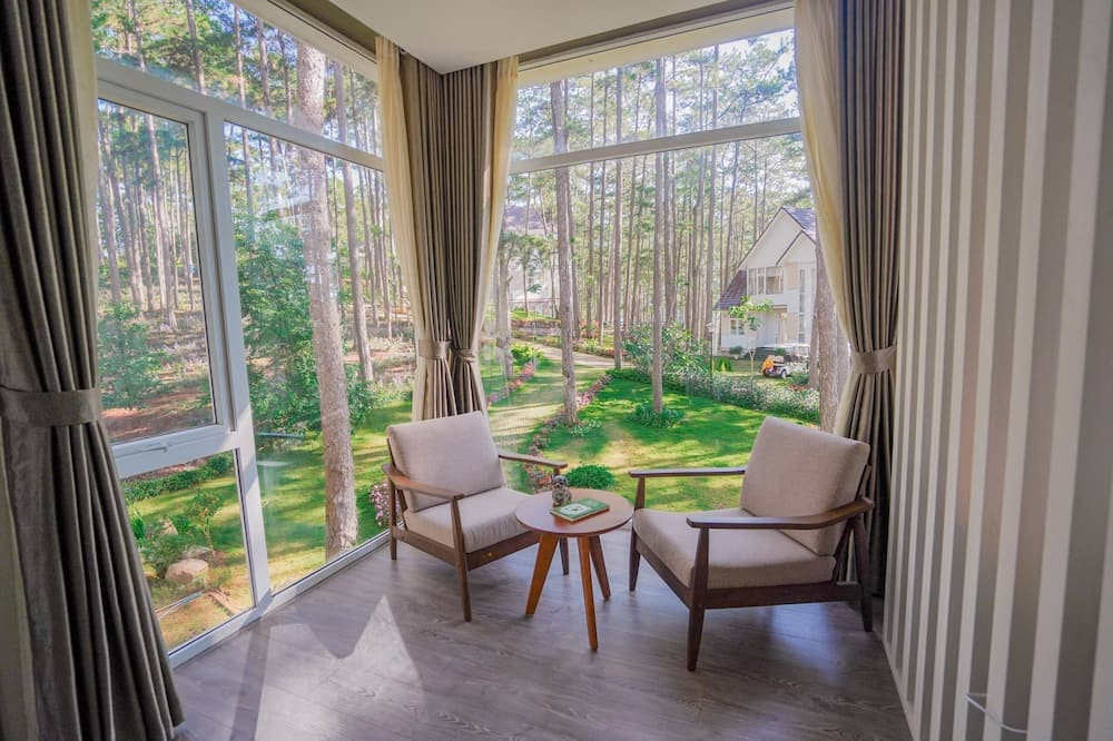 Deluxe appartement - Uitzicht vanaf balkon
