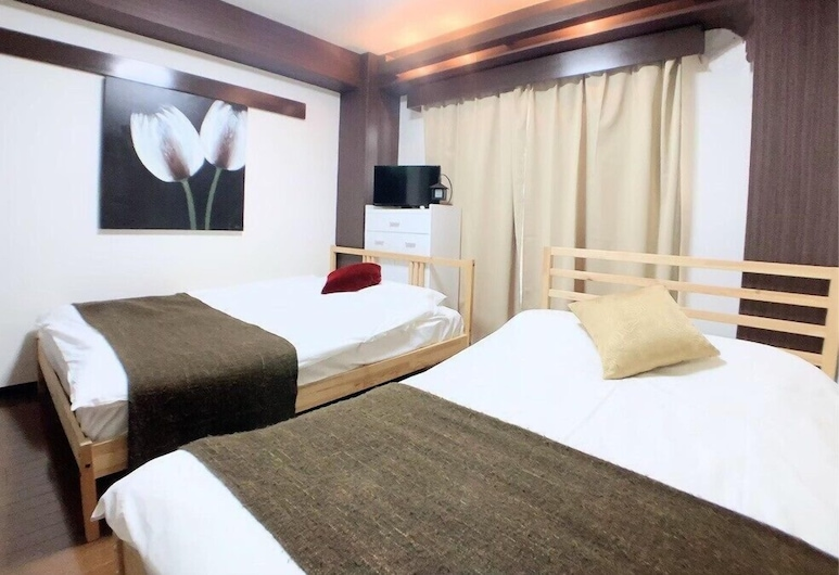 HOTEL AARON east, Osaka, Basic-herbergi fyrir tvo, tvö rúm - 2 tvíbreið rúm - Reyklaust, Herbergi