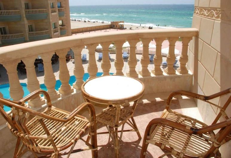 Sea View Hotel Elagamy, 亞歷山德利亞, 豪華套房, 陽台