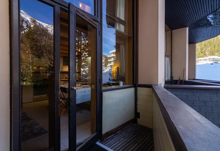 Résidence Grand Roc - Campanules 125, Chamonix-Mont-Blanc, Apartament, 2 sypialnie, Balkon