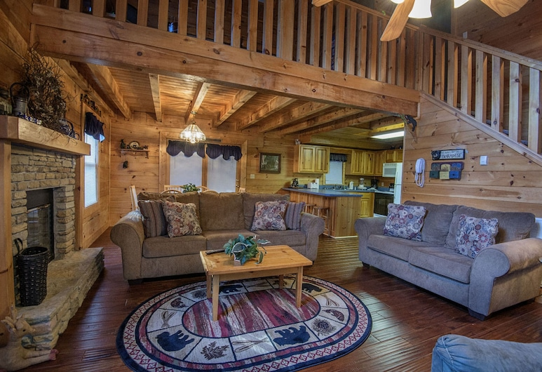 Smoky Mountain Top by Eagles Ridge Resort, Pigeon Forge, Ferienhütte, 3Schlafzimmer, Wohnzimmer