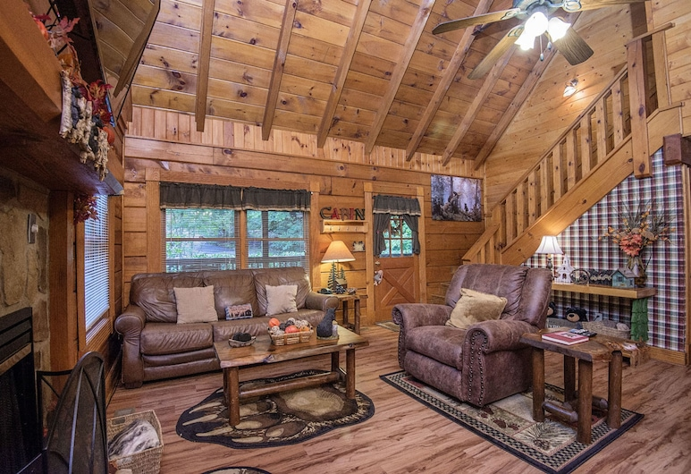 Natures Grace Retreat by Eagles Ridge Resort, Pigeon Forge, Hytte, 2 soverom, Stue