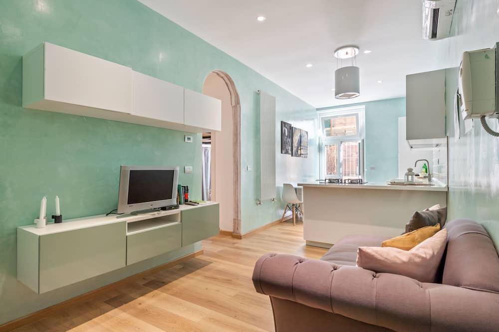 Apartmán, 3 spálne, nefajčiarska izba - Obývacie priestory