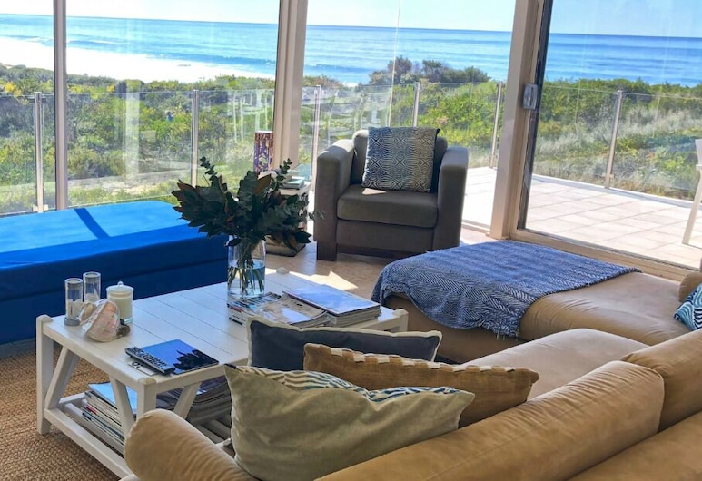 The Glasshouse, Culburra Beach, Sala de estar