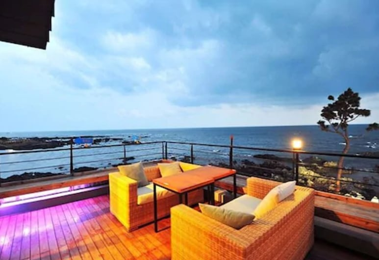 Ocean view Jeju Guesthouse - Hostel, سيوجويبو, منطقة تناول وجبات الإفطار