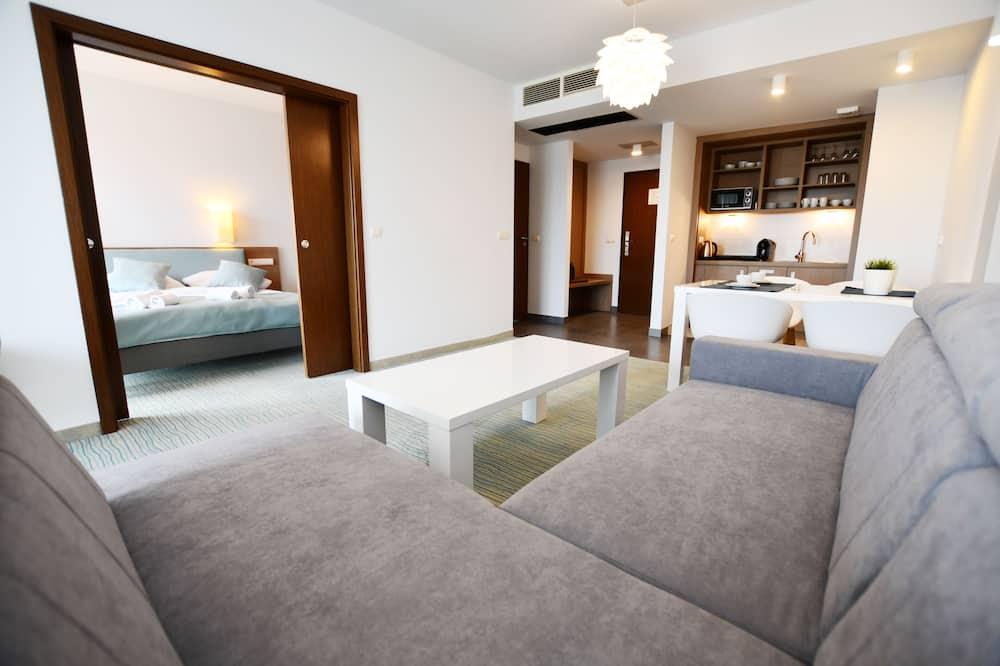 Deluxe Apartment, Non Smoking, Courtyard View (319 Baltic Plaza) - Living Area