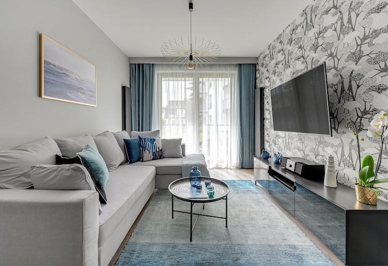 Dom & House - Apartamenty Dolny Sopot, Sopot, Apartmán typu Deluxe, 1 spálňa, balkón, Obývacie priestory