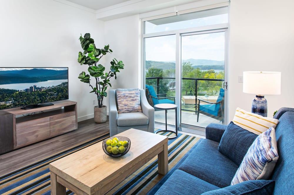 Suite, 1 Schlafzimmer, Seeblick - Wohnbereich