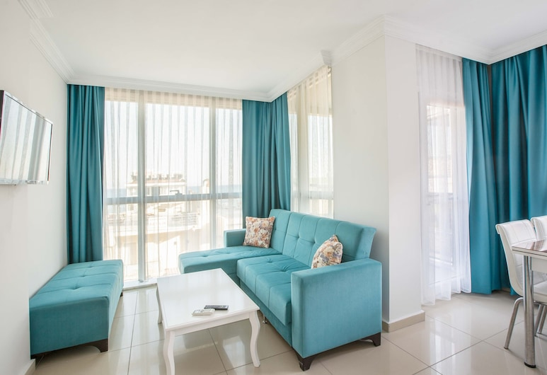 Antioch Apart Otel, Didim, Apartment, 1 Bedroom, Sea View, Living Room