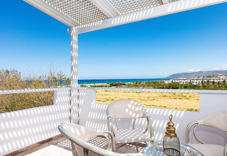 Pinelopi Beach Suites, Apokoronas, Junior-suite - havudsigt, Altan