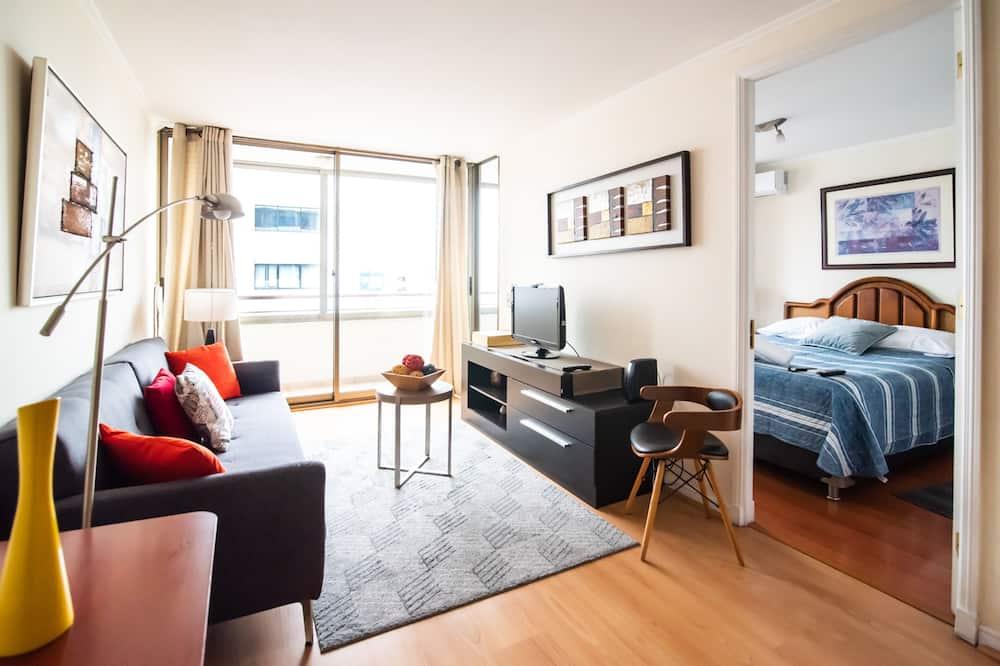 Апартаменты, 1 двуспальная кровать, отдельная ванная комната - Главное изображение