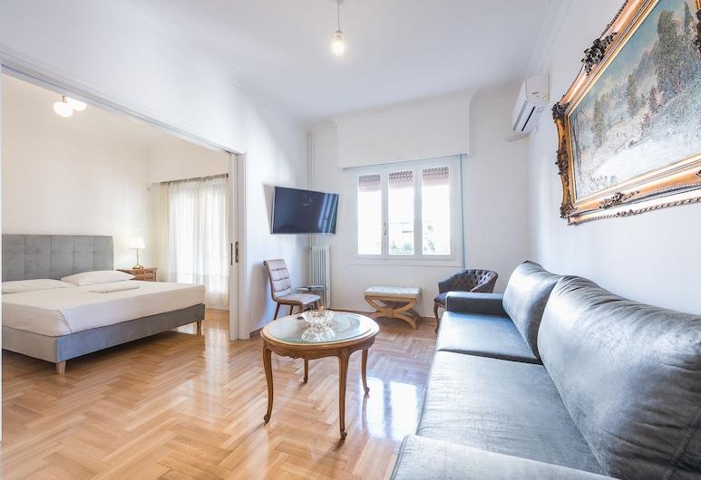 ビクトリア スュプリーム スイート, アテネ, アパートメント 3 ベッドルーム, リビング エリア