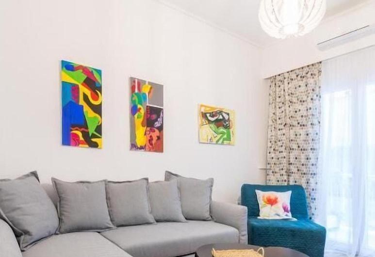 Athens Ermou Paradise Apartments, Atenas, Apartamento, Sala de Estar