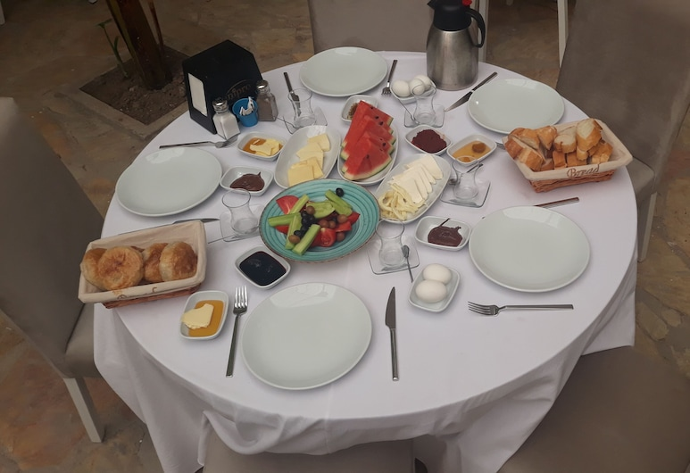 1989 Hotel Sebat, Çesme, Área para desayunar