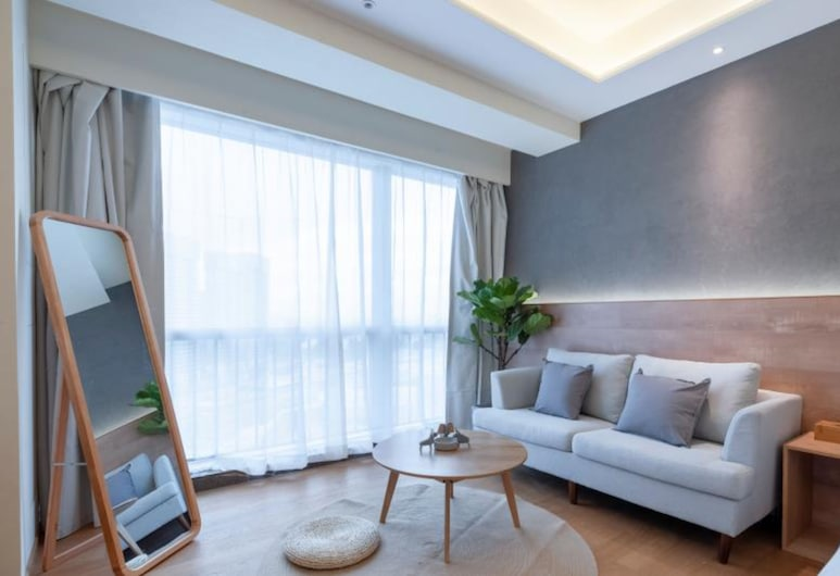 Foshan Wowa International Aparthotel, Shenzhen, Classic Double Room, Living Room