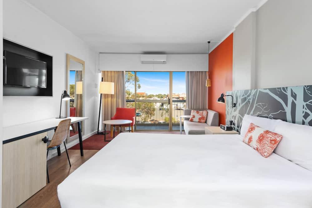 Kambarys verslo klientams, 1 didelė dvigulė lova - Svetainės zona