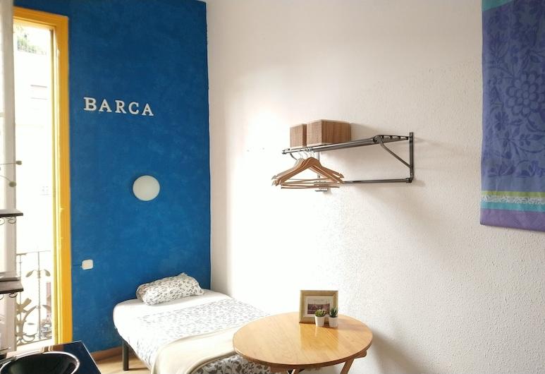 Pension Casa De Barca, ברצלונה, חדר בייסיק יחיד, חדר רחצה משותף, חדר אורחים