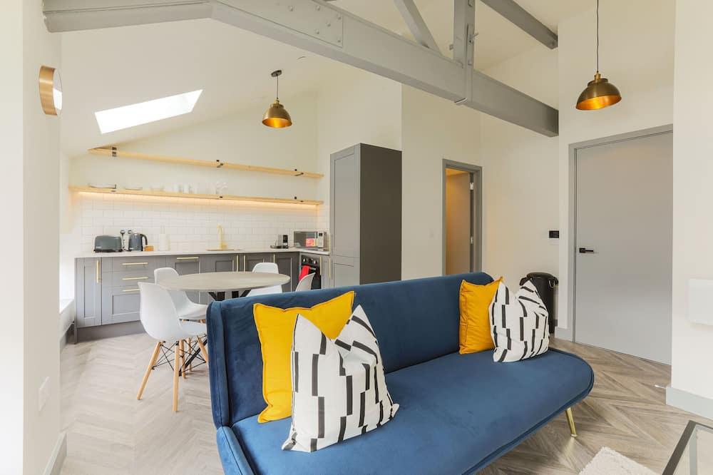 클래식 아파트, 침실 1개 - 거실 공간