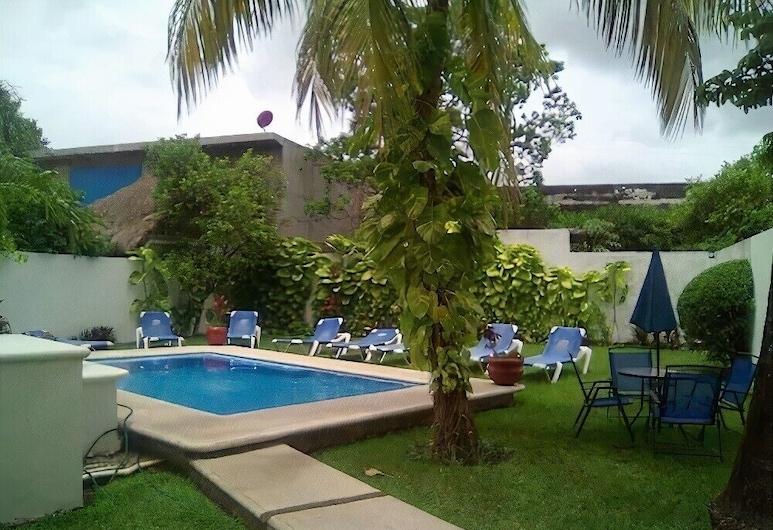 Kiin Hotel Boutique, Cozumel, Pokoj, 2 dvojlůžka (180 cm), Obývací prostor