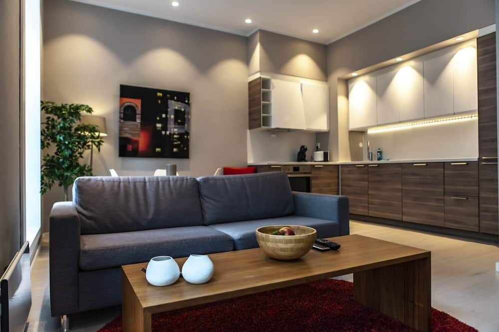 Apartment, 1 Bedroom (For 2) - Living Room