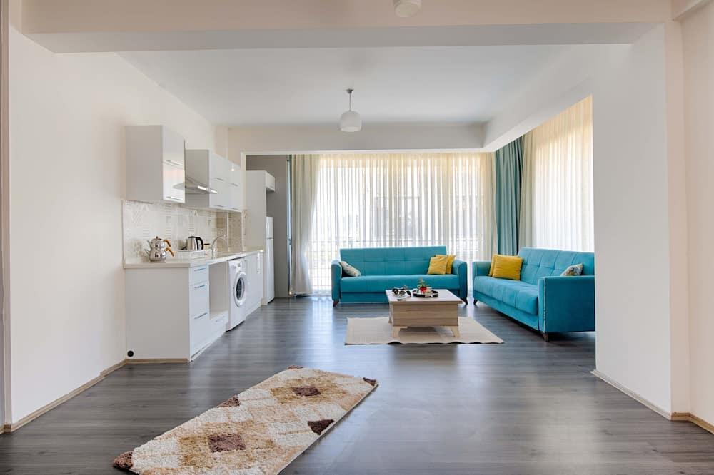 شقة ديلوكس - ٣ غرف نوم - منطقة المعيشة