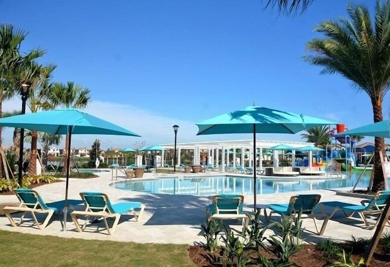 Family Lake Side Game Room, Private Pool & Spa! 8 Bedroom Villa, Киссимми, Вилла, несколько спален, Бассейн