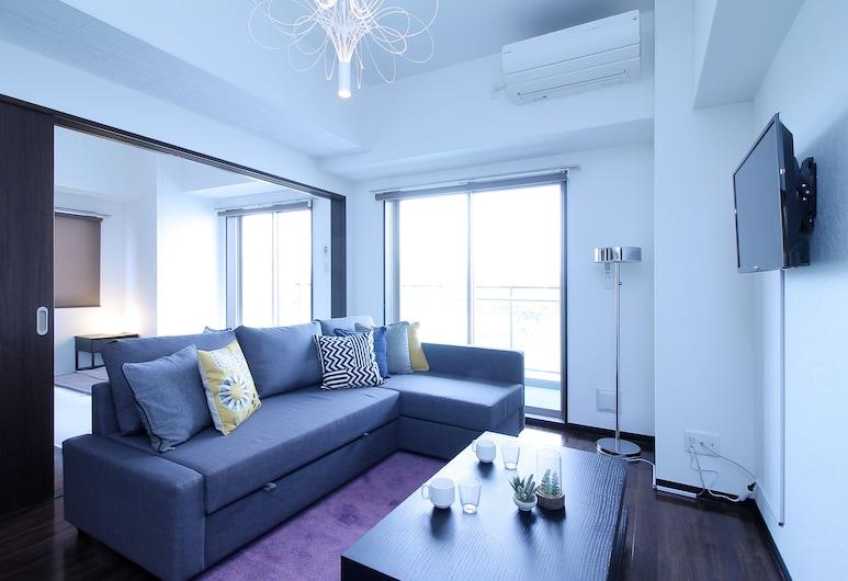Marubeni Hongawa Building, Hiroshima, Apartment, 3Schlafzimmer (1001), Wohnbereich