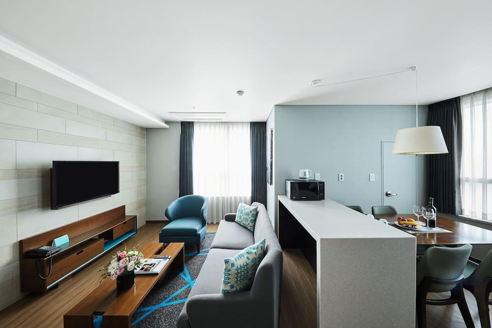 Suite Ocean Double, 1 Queen Bed - Nappali rész