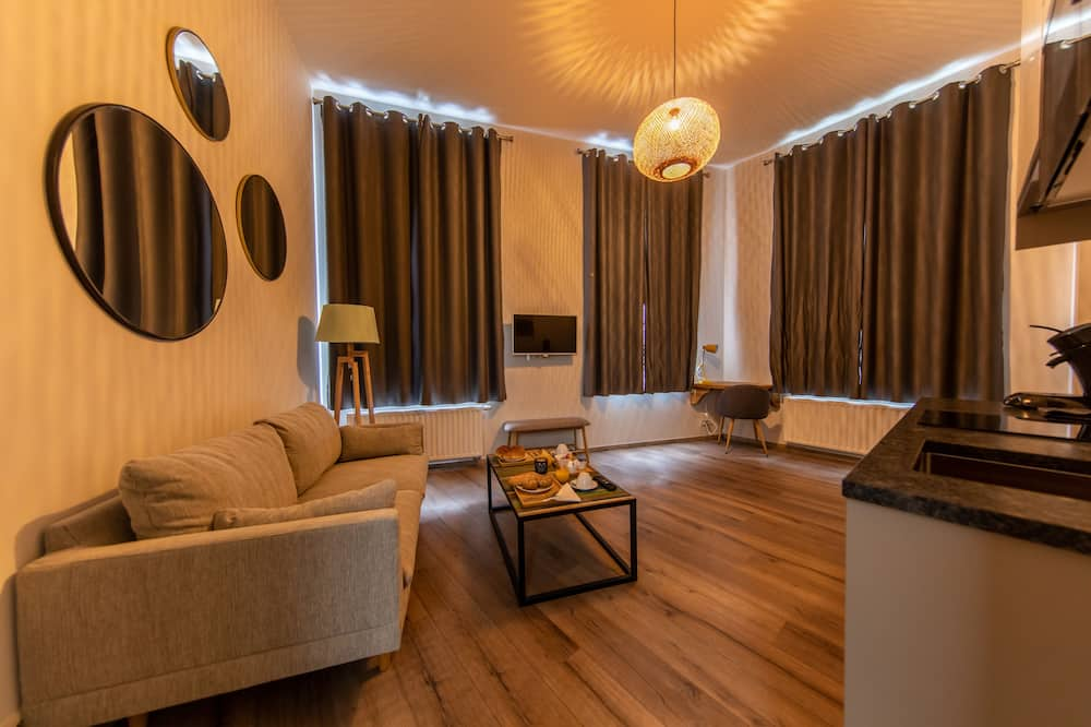 Suite estudio Premium - Sala de estar
