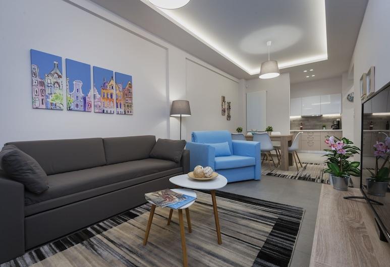 57m² Koukaki Luxury Flat next to Acropolis & Metro, Athén, apartman, 1 hálószobával, Nappali rész